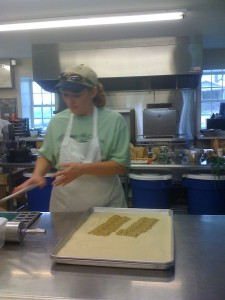 Patty Childs demonstrates ravioli
