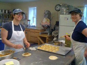 Lynsi and her mom Sharon make empanadas