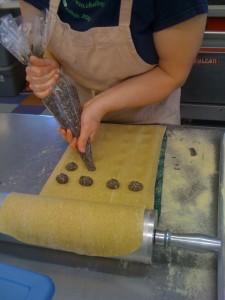 Lynsi Pasutti making ravioli at Smith Meadows Kitchen