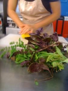 Making Pesto at Smith Meadows Kitchen