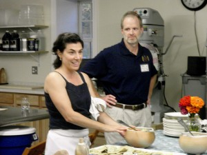 Nancy Polo and Chef Kimber Herron at the Cooking Class Debut