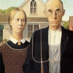 American-Gothic by Grant Wood