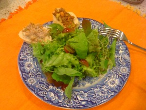 Salad with Smith Meadows Beef and Pork Rillette