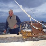 Jimmy Hogge on his boat, early morning January 17, 2012.