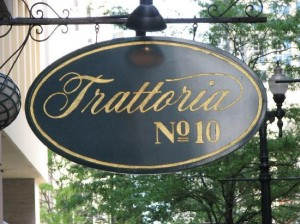 Sign Trattoria #10, Chicago, IL