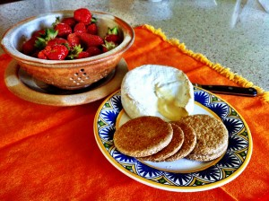 Smith Meadows Oatcakes, Keswick Creamery Camembert & Next Step Produce Strawberries