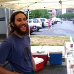 Dan Michaelson helps me at farmers market in Virginia. He's getting his Master's in Biology from the University of Maryland, and intends to start his own farm soon. Dan is super-smart, but he CANNOT tell you the current participants on 'Survivor', or name a single American Idol.