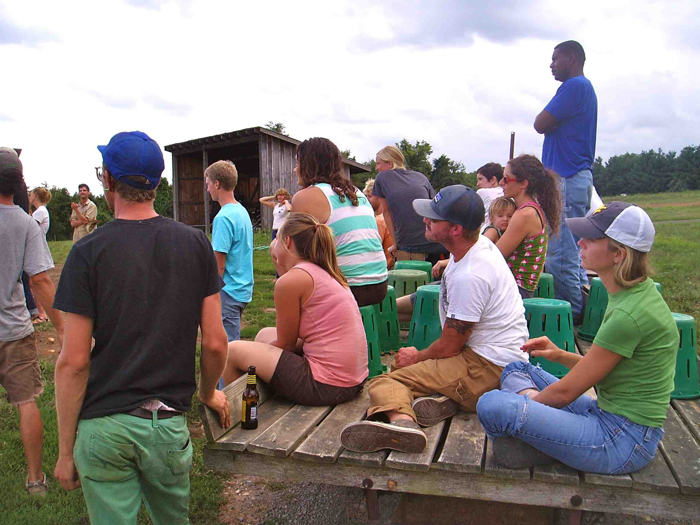 Young farmers on an educational farm tour.