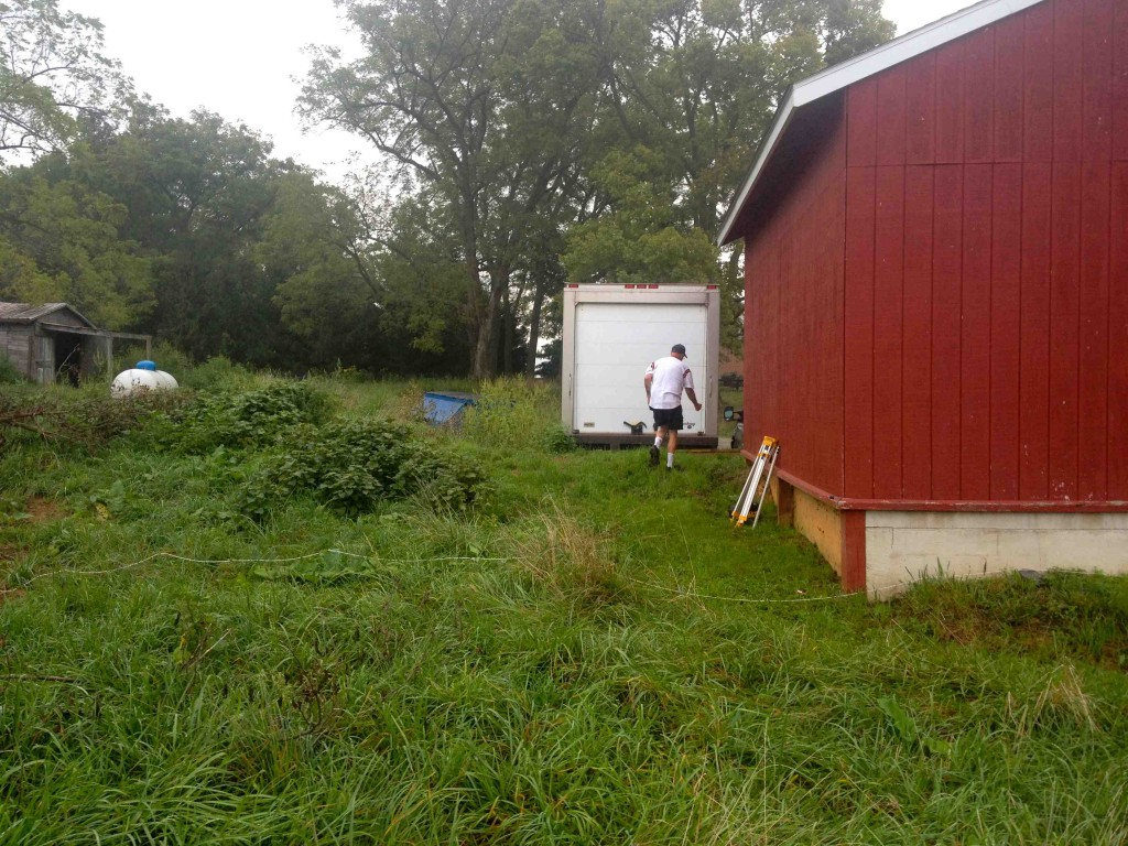 You gotta start somewhere. Here, we're adding onto our existing freezer shed and loading dock, which housed two conventional 'locking panel' walk-in freezers.
