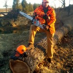 Your author, with his trusty Stihl 441.