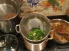 Add Beef, Greens and Noodles to the 2 Pints of Broth