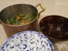 Place Noodles, Beef and Greens into Large Bowls